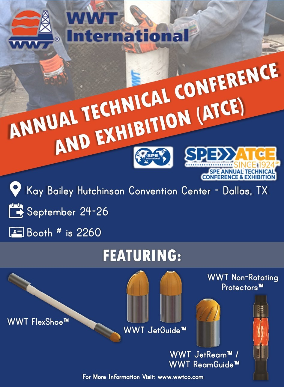 WWT International Exhibiting at the Annual Technical Conference and Exhibition (ATCE)
