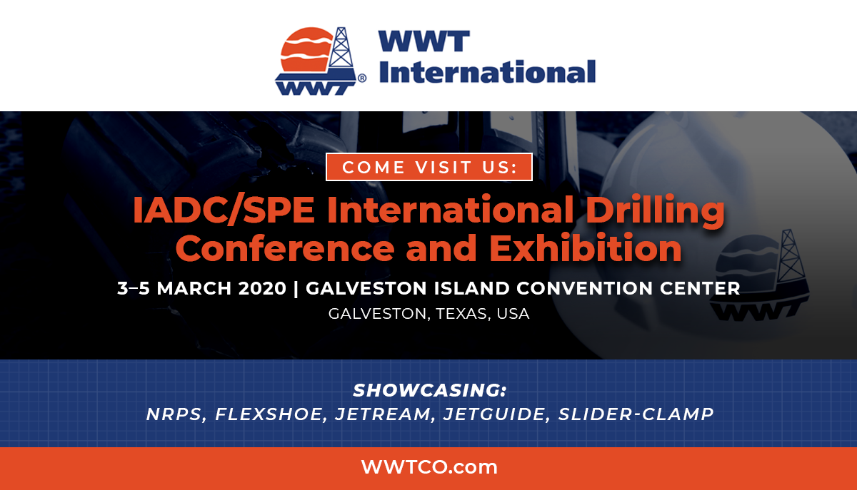 MARK YOUR CALENDARS: WWT International Joining IADC/SPE International Drilling Conference and Exhibition 2020
